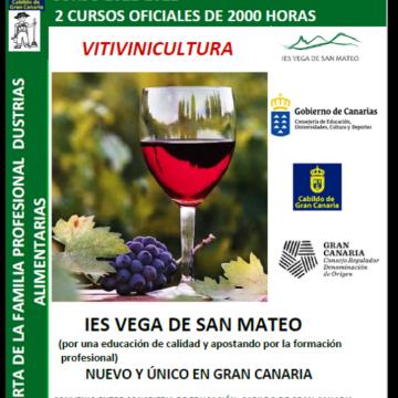 Gran Canaria contará con un Ciclo Superior de Vitivinicultura